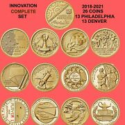 2018 - 2021 American Innovation P And D 26 Coins Full Set