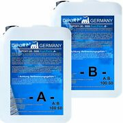 Epoxy Resin Epoxydharz Ep Epoxide Crystal Clear 2k-5000poolpaint With Colour