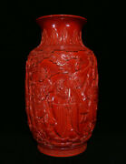 20 Marked Chinese Red Porcelain Figures People Celestial Being Pot Bottle Vase