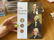 Set Coin United States Usa Our Founding Fathers 3 Coins Quarter Dollar 1 5 Cents
