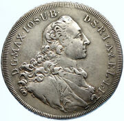 1760 German States Bavaria Maximilian Iii Antique Old Silver Thlaer Coin I97686