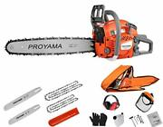 Proyama 62cc Cutting Performance 2-cycle Handheld Gas Powered Chainsaw 18-inch