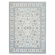 9and0391x12and0392 250 Kpsi Hand Knotted Ivory Nain Wool And Silk Oriental Rug G63535