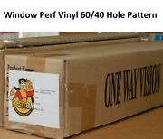 High Performance Perforated Window Vinyl Roll Eco-solvent 60/40 + Hp Latex