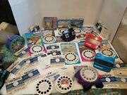 View-master Lot Viewers Projector 85+ Reels Disney Discovery 70s 80s 90s