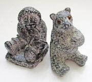 Inuit Soapstone Carvings Wolf Canada - Eskimo And Bear