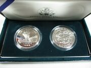 1999-p Yellowstone Proof And Uncirculated Silver Dollar Coins W/box And Coa