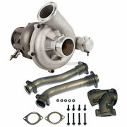 For Ford F350 7.3l Stigan Turbo W/ Billet Wheel Actuator Charge Pipe Kit Gap