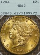 1904 20 Pcgs Ms62 Rattler Gold Liberty Double Eagle - Ogh, Old Green Holder