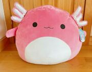 Squishmallows Kellytoy Official 24 Archie The Pink Axolotl Plush Doll Toy