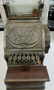 Antique Brass National Dayton Ohio Cash Register 317 With Counter