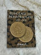 Complete Set Of Indian Head Cents - 1877 Graded F12 Details W/ 1909-s