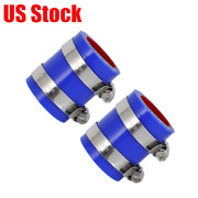 1 1/8 Exhaust Pipe Clamps Blue Silicone For Atv Yamaha Banshee Fmf Toomey T3 -6