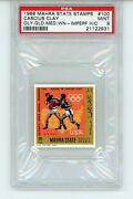 1968 C.clay Mahra State Stamps 100 Olympic Gold Medal Psa 9 Pop 2 No Higher