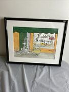 Charles Mckimson Signed Antiques Sign Features Bugs Bunny
