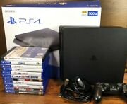 Ps4 500gb Console Bundle With 1 Oem Controller-11 Games-gta5 Fifa Madden Sims