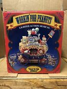 Enesco Workin' For Peanuts Light Action Moving Animals Music Circus Wagon New