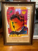Signed Peter Max, Bill Clinton Inaugural, An American Reunion I, Poster Signed