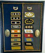 Civil War- Us Vs Cs Union And Confederate Officers Insignia Framed Wall Art