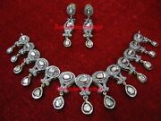 Antique Rose Cut Diamond 5.34ct And Polki Diamond 2.02ct Hand Made Necklace Sets