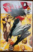 Silk 1 Kaeser Signed And Remarked Land Exclusive Variant W/coa 2018 Marvel Nm