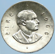 1966 Ireland Easter Rising W Pearse Irish Antique Silver 10 Shilling Coin I97562