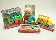 Cocomelon Doll School Bus Musical Doctor Check Up Set And Keyboard Toy Jj Dr New