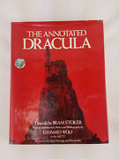 The Annotated Dracula Bram Stoker Leonard Wolf Hardcover Book Vintage 1975