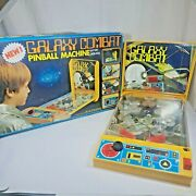 Galaxy Combat Vintage Tabletop Pinball Machine 7730 Battery Operated 1980s
