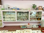 Lot Of 3 Retail Store Glass Lighted Showcase Display Cases - Pickup Only