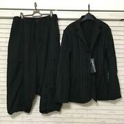 Yohjiyamamoto Pour Homme 16ss Black Suits Set Menand039s Size 2 From Japan Excellent
