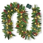 9 Foot Christmas Lighted Garland Battery Operated Christmas Garland
