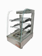 Heatmax 14 X 18 X 23 Commercial Stainless And Curved Glass Food Warmer Display