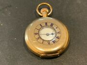 Pocket Watch Half Hunter Gold Plated Coventry Lever Movement