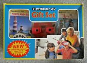 Viewmaster 3d Gift Set Red Model J Viewer And 4 Reel Packets 1980's A-team J534