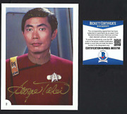 George Takei Signed 1982 Star Trek Card Bas Authenticated Wrath Of Khan