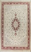 Wool/ Silk Floral Medallion Traditional Oriental Area Rug Hand-knotted 10x14 Ft