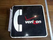 Vintage Verizon Pay Phone Sign 2 Sided Flanged.