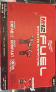 Milwaukee M12 Fuel 12v 1/2 Cordless Hammer Drill Combo Kit With 1/4 Hex Impact