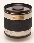 Kenko Mirror Lens 500mm F6.3 Dx For Leica R Manout Used Good