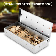 Stainless Steel Smoker Box For Bbq Grill Wood Chips Gas Barbecue Meat