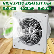 4/6/8 110/220v Inline Duct Booster Fan Ventilation Extractor Exhaust Air