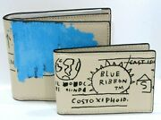 Coach C5444 X Jean-michel Basquiat Menand039s 3 In1 Wallet Leather Ivory Multi Nwt228