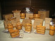 Longaberger 11 Collectors Club Jw Miniatures Baskets, Pottery, Wrought Iron New