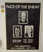 Chicago 7 Poster Face Of The Enemy Stop The Trial Daley Nixon Hoffman And Buttons