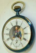 Rare Antique Wwi Imperial Russian Officerand039s Award Omega Gunmetal Pocket Watch