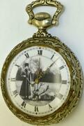 Antique Imperial Russian Art-nouveau Chased Case Doxa Pocket Watch.hunting Scene
