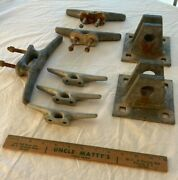 Lot Dock Hardware 2 Female Dock T-connectors And 6 Cleats Hot Dipped Galvanized