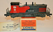 Lionel 602 Seaboard Nw2 Diesel Switcher With Box And Instruction Sheet