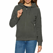 Superdry Borg Lined Womens Hoody Zip - Vintage Black All Sizes